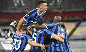 Los jugadores del Inter celebran el tanto de D'Ambrosio.