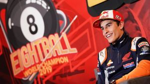 El catalán Marc Márquez (Honda), ocho veces campeón del mundo, en el inicio de la rúa de Cervera (Lleida), el pasado sábado.
