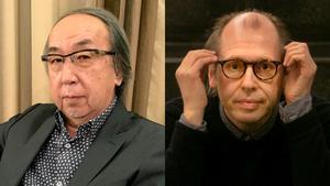 Los autores Hideo Yokoyama y David Peace, participantes en BCNegra.