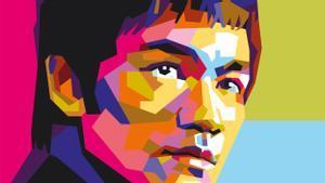 Retrato del actor y luchador de artes marciales, Bruce Lee