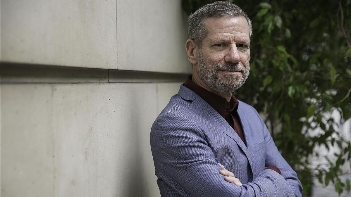 El escritor norteamericano Peter Cameron, este viernes, en un céntrico hotel de Barcelona.