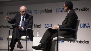 Francisco González, presidente del BBVA, durante el debate con el periodista Michele Catanzaro, dentro del proyecto Open Mind.
