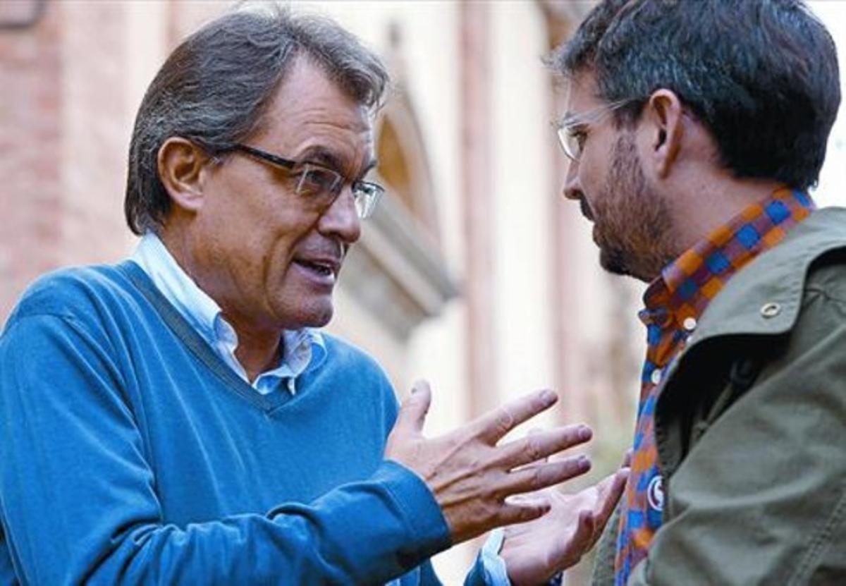 Artur Mas y Jordi Évole, en un momento de la charla grabada el pasado 12 de octubre para 'Salvados'.