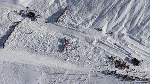 Una estación de esquí en los Alpes franceses.