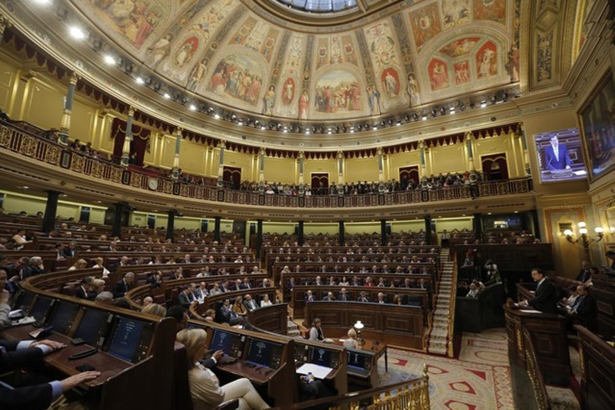 Imagen de un pleno del Congreso de los Diputados.