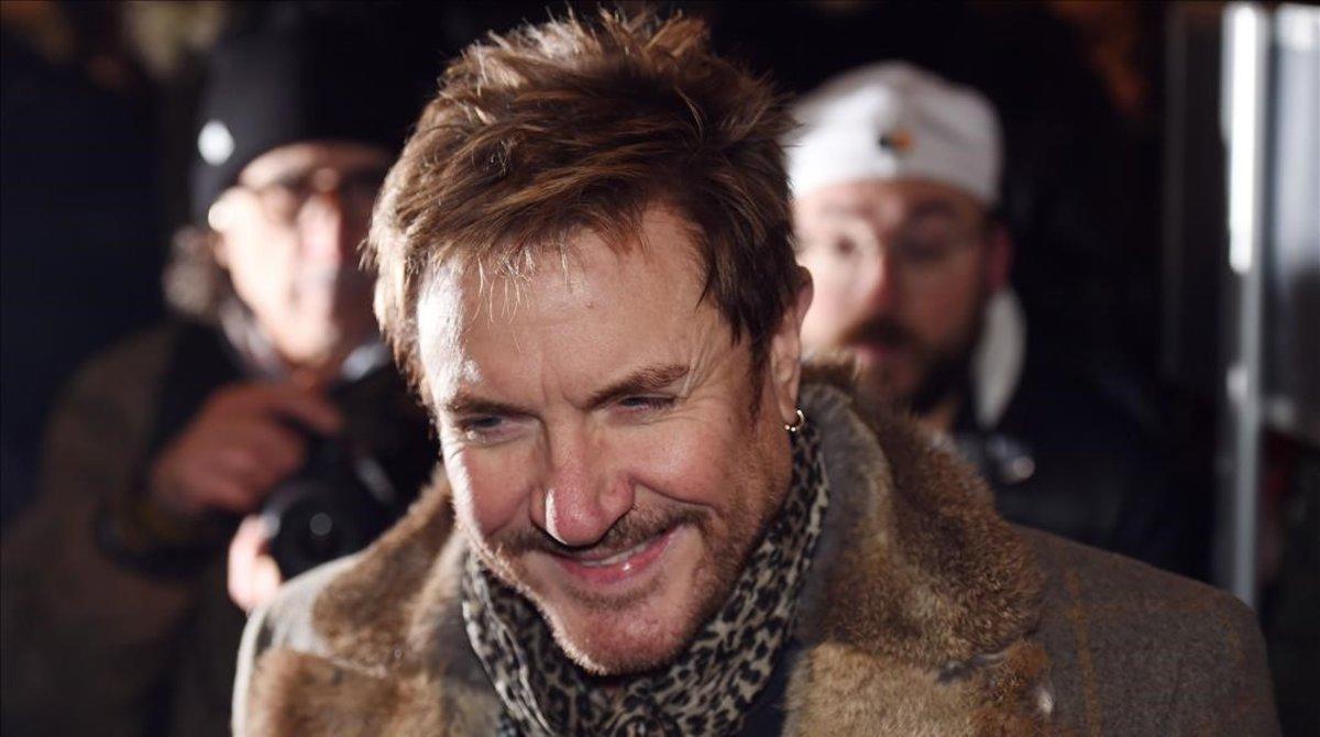 Simon Le Bon, del grupo Duran Duran, tampoco se lo ha querido perder.