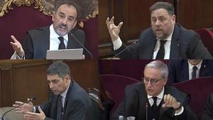 Manuel Marchena, Oriol Junqueras, Josep Lluís Trapero y Xavier Melero.