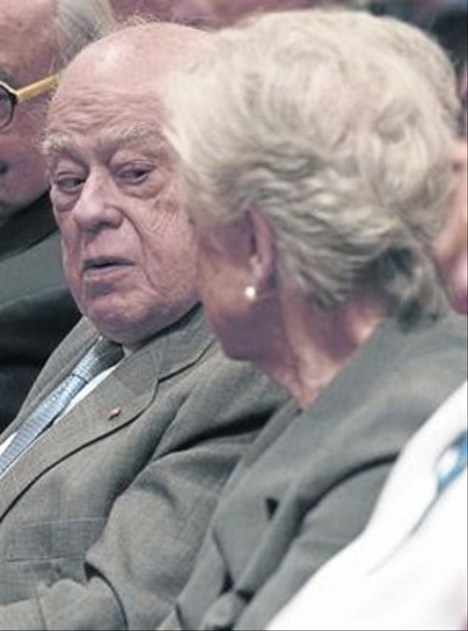 Jordi Pujol Soley y su mujer, Marta Ferrusola,  el pasado 8 de enero.