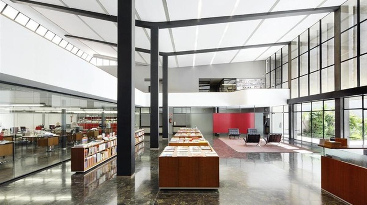 Interior de la antigua sede de Gustavo Gili.