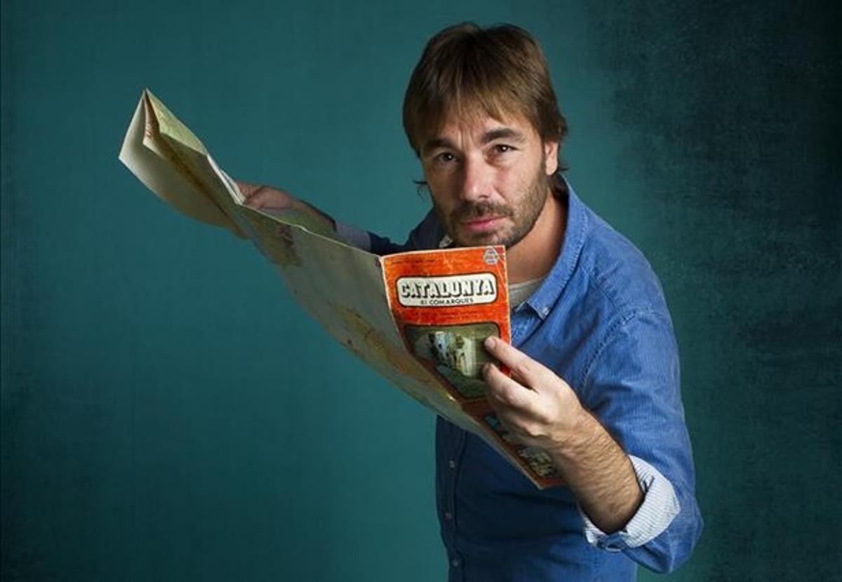 El actor y autor teatral de Teatre de la Guerrilla, Quim Masferrer, es ahora 'El foraster', en TV-3.