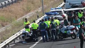 El guardia civil de Tráfico Fermín Cabezas González ha fallecido esta tarde al caer de su moto a la altura del kilómetro 113 de la autovía A-7, en el término municipal de Los Barrios (Cádiz), mientras perseguía a un coche que ocultaba 200 kilos de hachís.