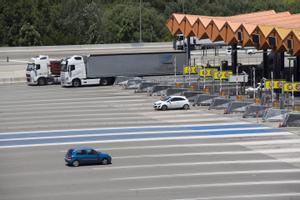 Peaje de la AP-7 a la altura de Martorell (Barcelona).