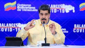 Maduro, en la presentación del medicamento.