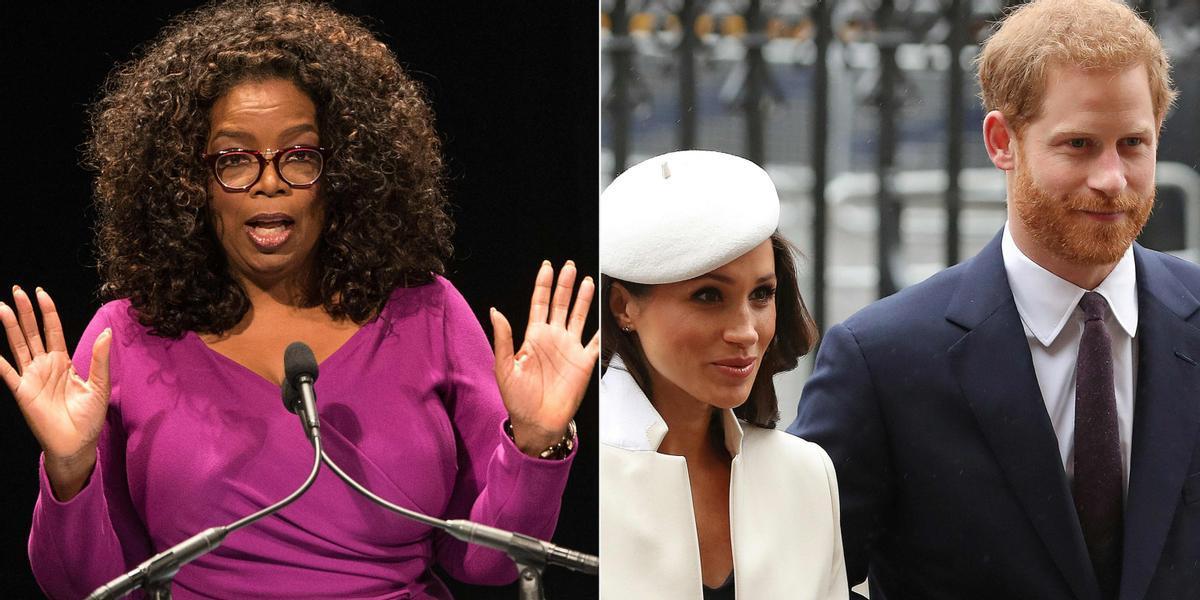 Oprah Winfrey y los duques de Sussex, este domingo en la CBS.