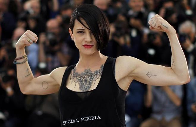 Asia Argento abans de la roda de premsa amb motiu de la seva última pel·lícula a Cannes.