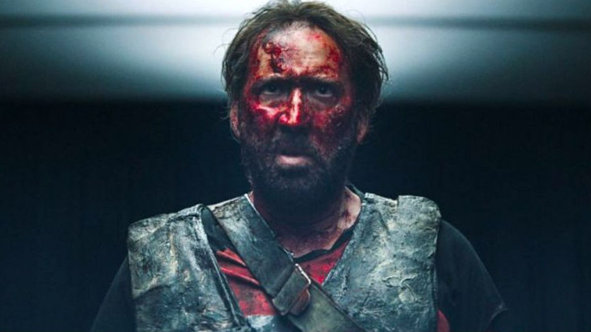 Nicolas Cage, en un fotograma de 'Mandy'