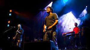 Actuación de Antònia Font en las fiestas de la Mercè del 2008.