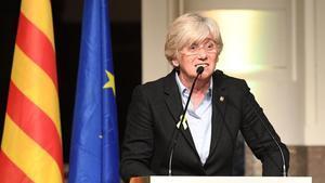 Clara Ponsatí, durante un acto en Bruselas.
