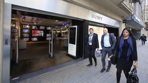 Sony tanca el seu 'megastore' a Barcelona