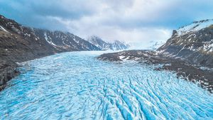 Glaciar Skaftafall, Parque Nacional Vatnajokull en Islandia