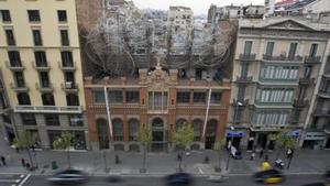 L'antiga editorial, ara seu i museu de la Fundació Tàpies.