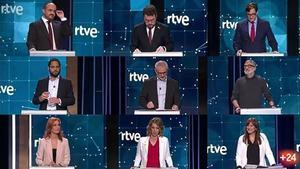 Debate a nueve en el Canal 24 Horas de TVE.