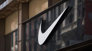 El logo de Nike, en su tienda de Nueva York; la multinacional es una de las protagonistas de los 'papeles del paraíso.