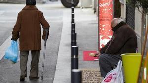 Pobres al mercat de la Llibertat, aquest desembre.