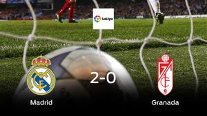 El Real Madrid consigue la victoria en casa frente al Granada (2-0)