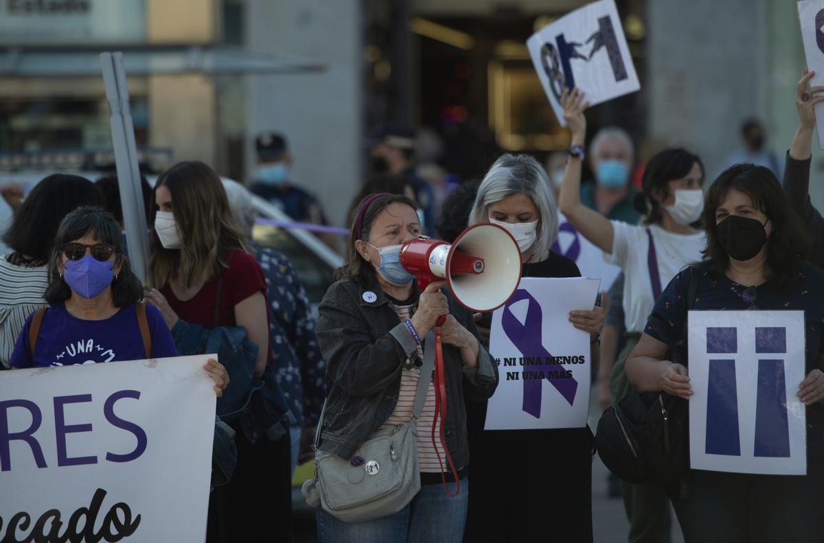 Protesta contra la violencia machista en Madrid