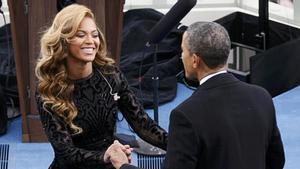 Beyoncé, en 2013, durante el acto de la segunda investidura de Barack Obama como presidente de EEUU.