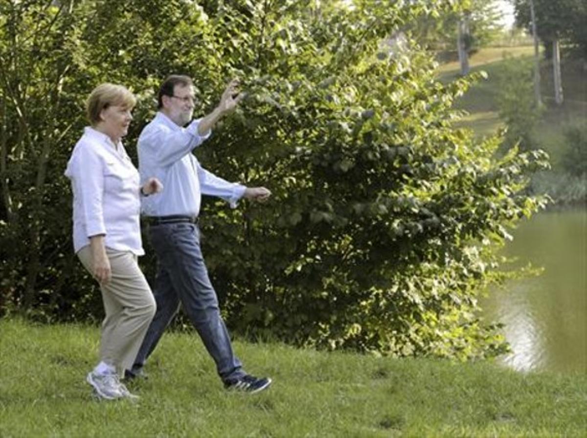 Angela Merkel y Mariano Rajoy, el pasado 31 de agosto en el castillo de Meseberg, en Alemania.