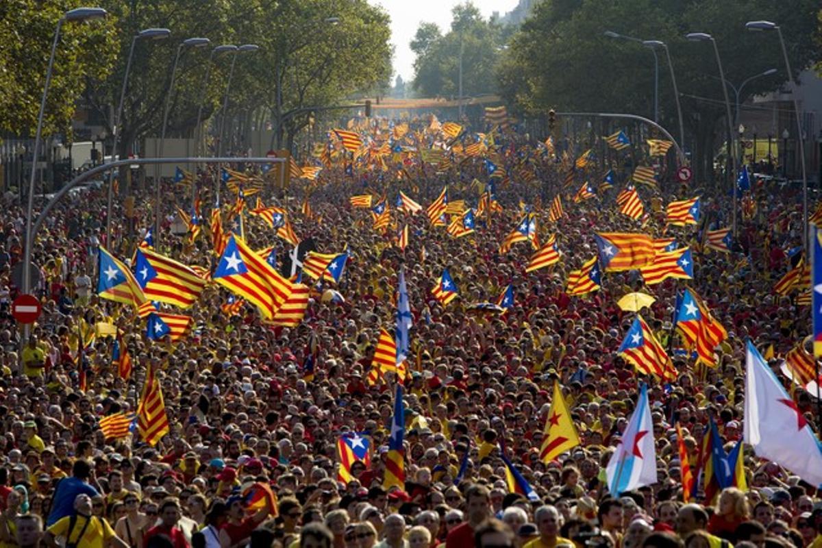 Imagen de la Via Catalana 2014 del pasado Onze de Setembre