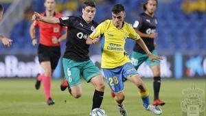 Pedri, el delantero del Las Palmas.