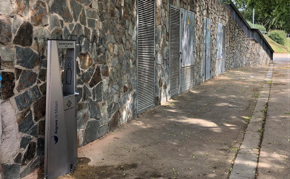 Mataró instal·la un nou prototip de font al parc Central
