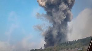 Comienza la erupción volcánica en La Palma
