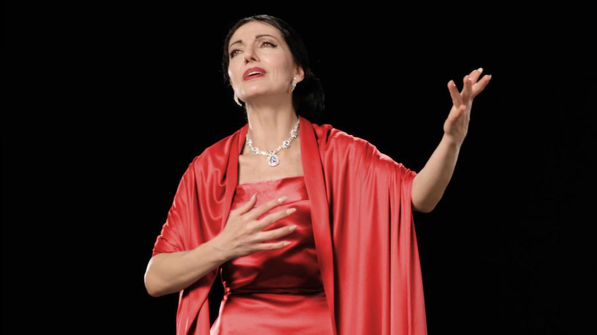 Imagen promocional del concierto de Maria Callas a partir de un holograma.