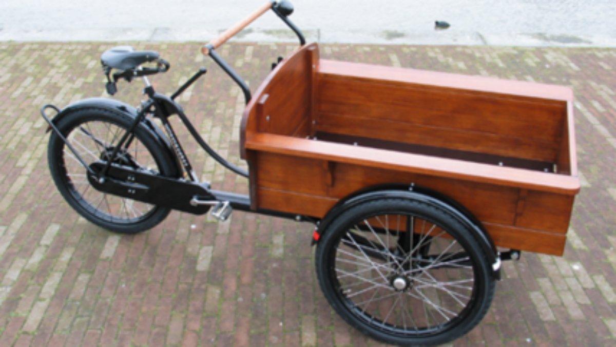 Una bicicleta de cargo.