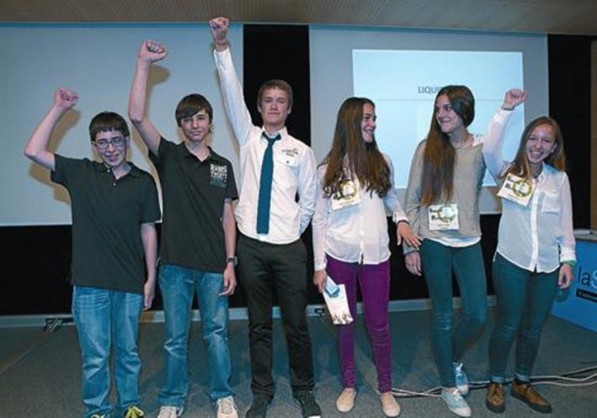 Emprendedores 8Los ganadores del concurso de estudiantes emprendedores.