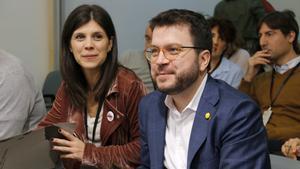 La portavoz deERC, Marta Vilalta, y el vicepresidente del Govern,Pere Aragonès.