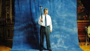 Maragall, fotografiado con la antorcha olímpica, en 1992.