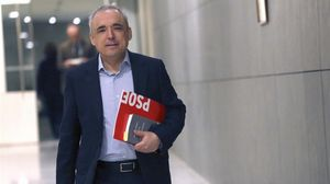 El secretario general del grupo parlamentario socialista en el Congreso de los Diputados, Rafael Simancas