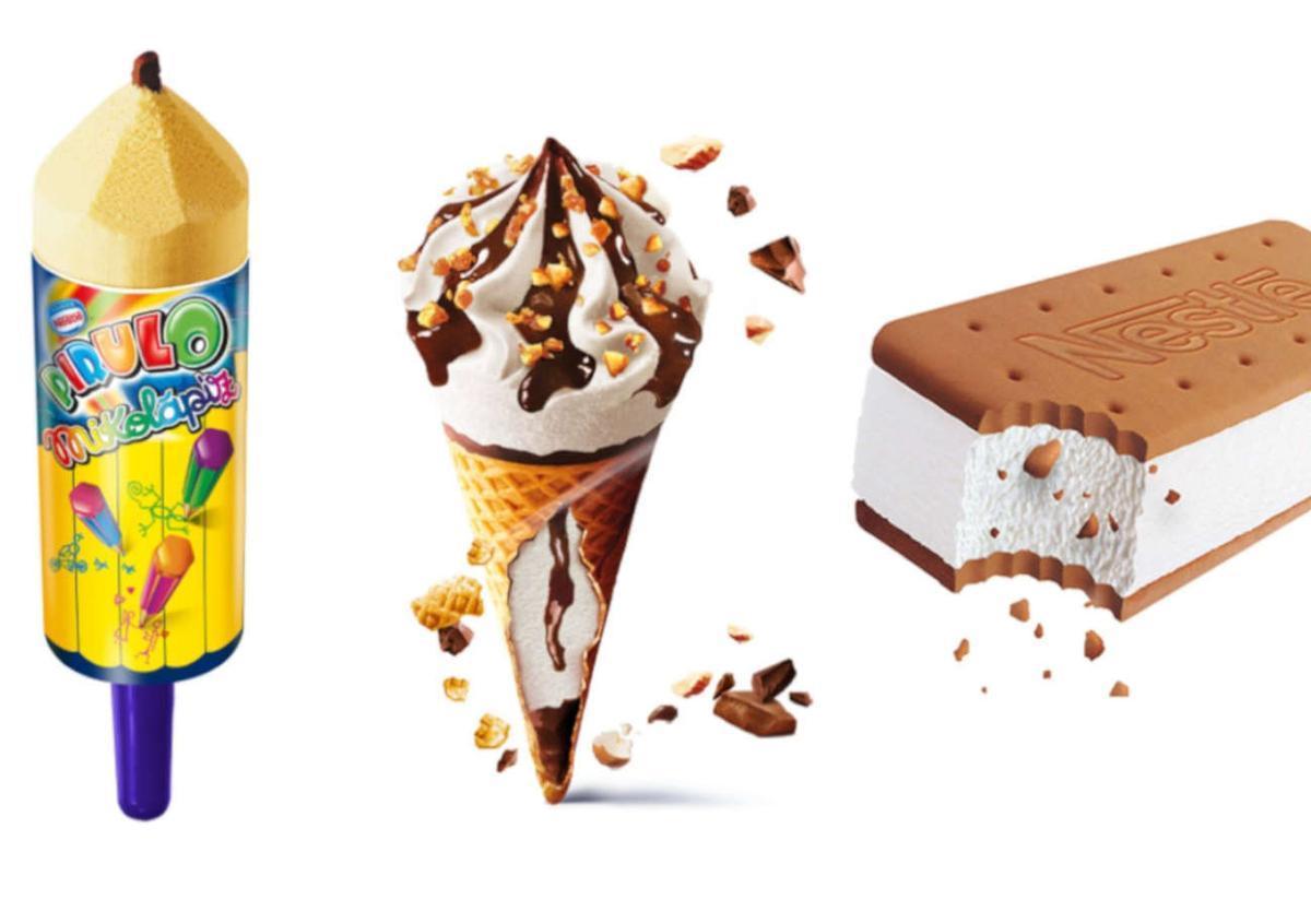 Helados de Nestlé.