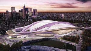 Imagen virtual del proyecto de Zaha Hadid para el nuevo estadio olímpico de Tokio, que debería albergar los Juegos del 2020 pero que finalmente será retomado desde cero.