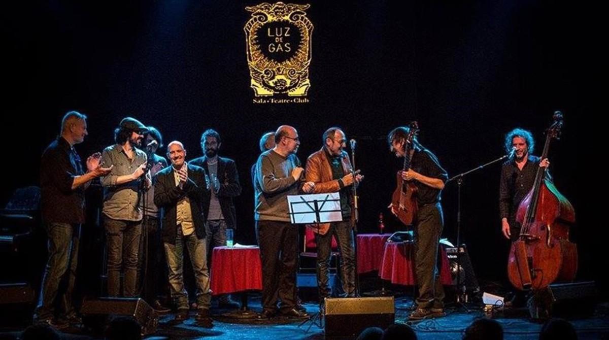 Concierto homenaje a Javier Krahe en Luz de Gas, dentro del festival Barnasants.