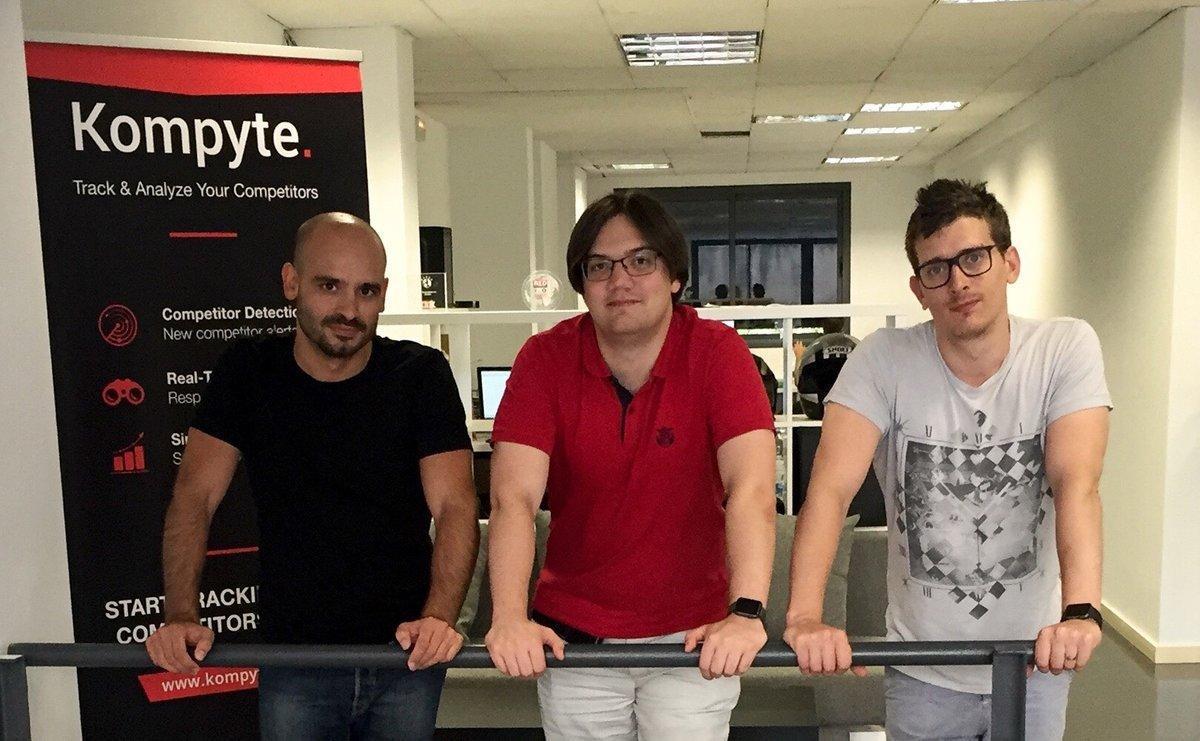 Pere Codina, Sergio Ramírez y Alberto Colmener, cofundadores de Kompyte.