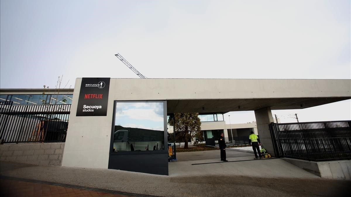 Imagen de los estudios de Netflix en elcampus del Grupo Secuoya, en Tres Cantos (Madrid).