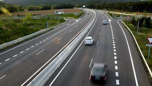 Carretera C-31 a su paso por Santa Cristina d'Aro.