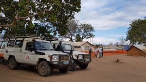 Uno de los campamentos de ayuda de MSF en Mozambique.