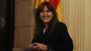 Primer pla de la presidenta del Parlament  Laura Borras  el 23 de marc de 2021 (Horitzontal) Gerard Artigas ACN